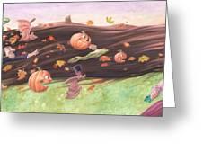 Rapunzel's Halloween Greeting Card by Richard Moore