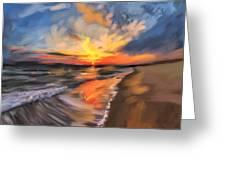 Rare California Sunset Greeting Card