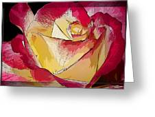 Rasberries And Cream Painterly Greeting Card