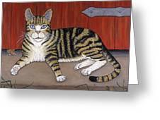 Rascal The Cat Greeting Card