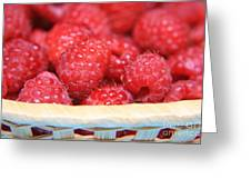 Raspberries In A Basket Greeting Card