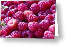 Homegrown Organic Raspberries, Chiloquin Oregon Greeting Card