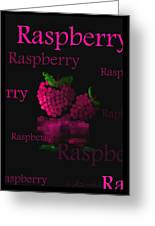 Raspberry - Fruit And Veggie Series - #11 Greeting Card