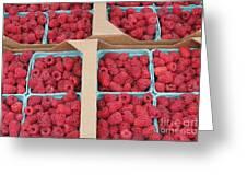 Raspberry Pints In Cardboard Flats Greeting Card