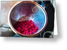Raspberry Reflections Greeting Card