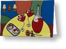 Raspberry Wine Greeting Card