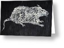 Rat - Oil Portrait Greeting Card