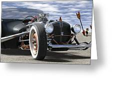 Rat Rod On Route 66 2 Panoramic Greeting Card