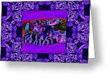 Rattlesnake Abstract Window 20130204m133 Greeting Card