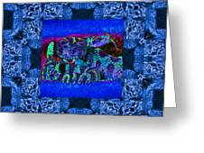 Rattlesnake Abstract Window 20130204m180 Greeting Card