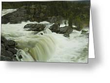 Rauma Waterfall Panorama Greeting Card