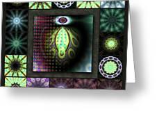 Ravaged Visions Redux Greeting Card
