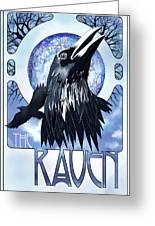 Raven Illustration Greeting Card by Sassan Filsoof