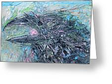 Raven - Oil Portrait Greeting Card