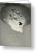 Raven Reflection Greeting Card