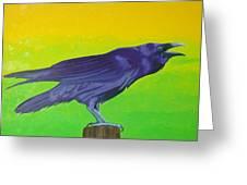 Raven Singing Greeting Card