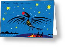 Raven Stealing The Sun Greeting Card