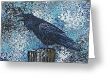 Raven Study 3 Greeting Card