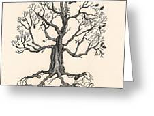Raven's Magic Oak Greeting Card