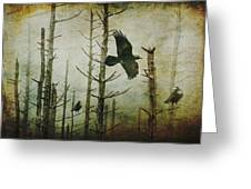 Ravens Of The Mist Artistic Expression Greeting Card