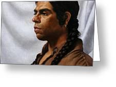 Raven's Portrait Greeting Card by Deborah Allison
