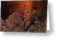 Ravens Tree Greeting Card