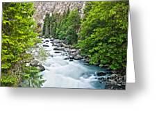 ravine in Verney Dora Greeting Card