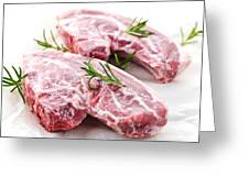 Raw Lamb Chops Greeting Card