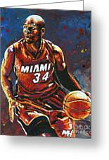 Ray Allen Greeting Card by Maria Arango