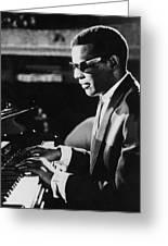 Ray Charles At The Piano Greeting Card