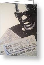 Ray Charles Reading Greeting Card