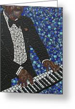 Keyboard Blues Greeting Card