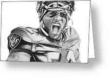 Ray Lewis Greeting Card by Don Medina