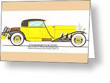 1922 Mercedes Benz By Raymond Dietrich Z Greeting Card