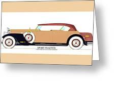 Raymond H Dietrich Packard Sport Phaeton Concept Greeting Card