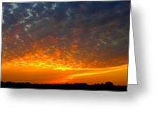 Rays Of Fire Greeting Card