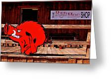 Razorback Country Greeting Card by Benjamin Yeager