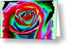 Razzle Dazzle Rose Greeting Card