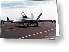 Rcaf F-18 Greeting Card