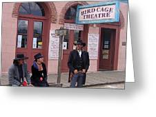 Re-enactors Bird Cage Theater Rendezvous Of The Gunfighters Tombstone Arizona 2004            Greeting Card