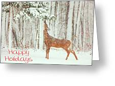 Reach For It Happy Holidays Greeting Card by Karol Livote