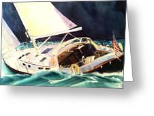 Reach For Safe Harbor Greeting Card by Don F  Bradford