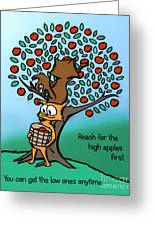 Reach For The High Apples Greeting Card