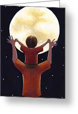 Reach The Moon Greeting Card by Christy Beckwith