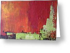 Reaching Up, Abstract  Greeting Card