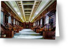 Reading Room In The Library Of Congress Greeting Card
