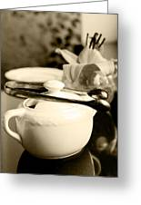 Ready For Afternoon Tea And Biscuits Greeting Card