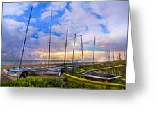 Ready For Sails Greeting Card by Debra and Dave Vanderlaan