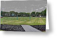 Ready For The Football Season Panorama Digital Art Greeting Card