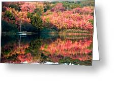 Ready To Sail In The Fall Colors Greeting Card